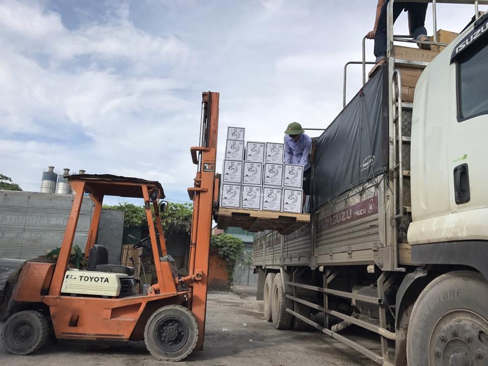 Hàng hóa vận chuyển tại kho Toàn Phát đi Sài Gòn